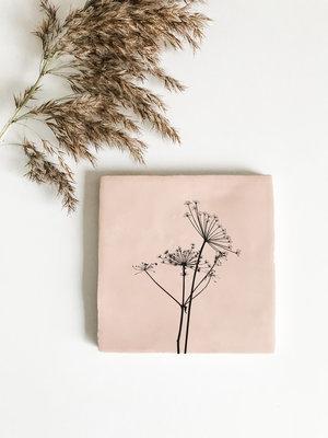 Tegeltje roze bereklauw