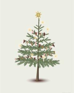 Poster Kerstboom  VisseVasse