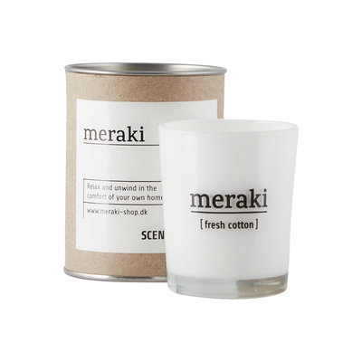 Meraki geurkaars fresh cotton klein