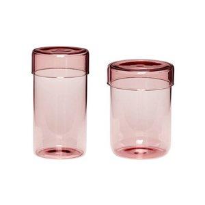 Set glazen voorraad potten Hübsch