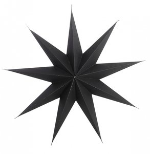 Kerstster zwart House Doctor 45cm